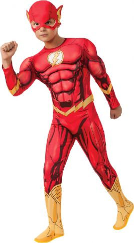 THE FLASH DELUXE MUSCLE SUIT COSTUME, CHILD