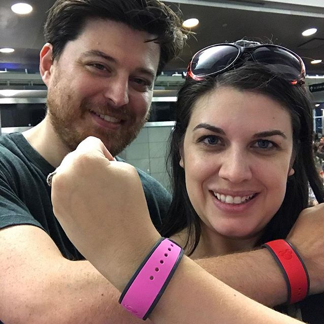 We're heading out! #kyleandcourt #waltdisneyworld #rundisney #disneywineanddine #adultingatdisney _r