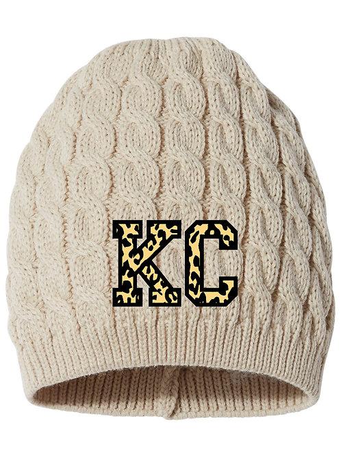 KC Leopard Beanie