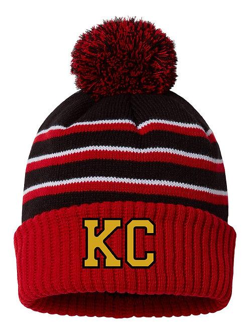 KC Stocking Cap Red/Gold