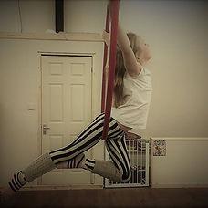 Mizz Twisted Cherry, hoop pose