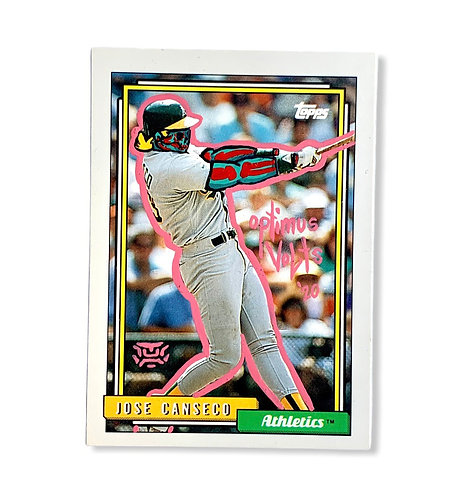 Jose Canseco Topps 1992 Oakland Athletics