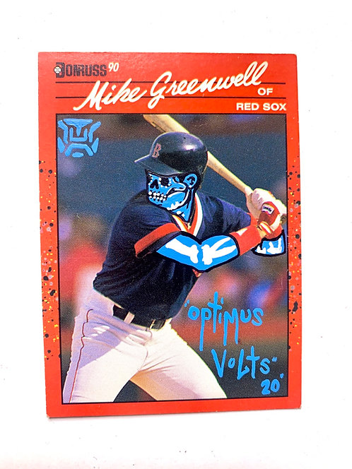 Mike Greenwell Donruss 1990 Boston Red Sox