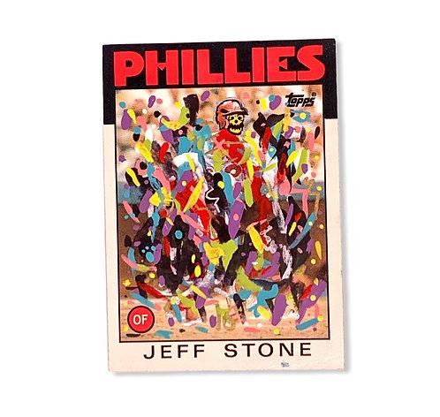 Abstract Philadelphia Phillies Jeff stone Topps 1986