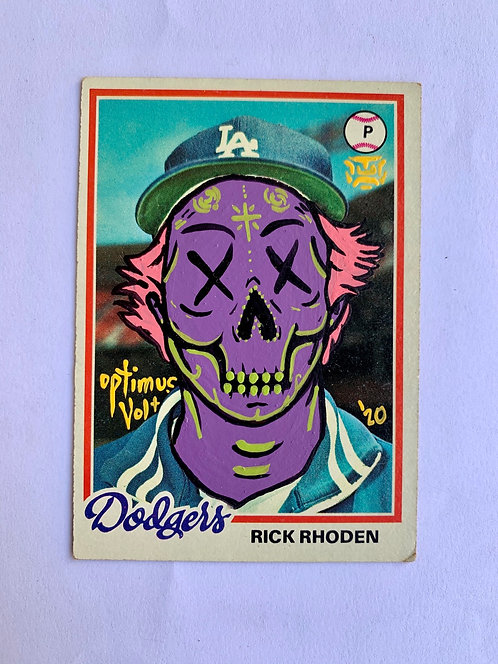 Rick Rhoden Topps 1978 Los Angeles Dodgers
