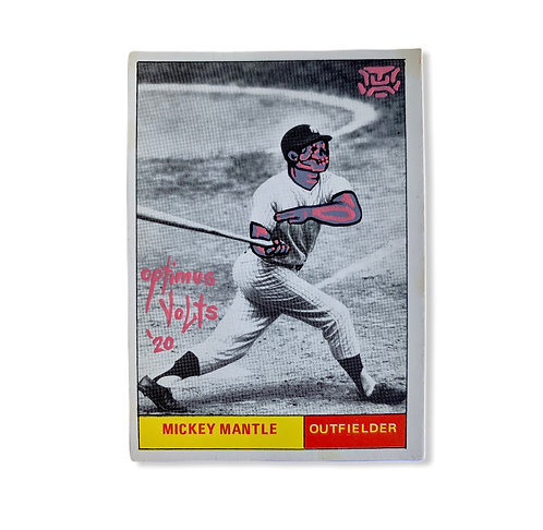 Mickey Mantle World championship New York Yankees card