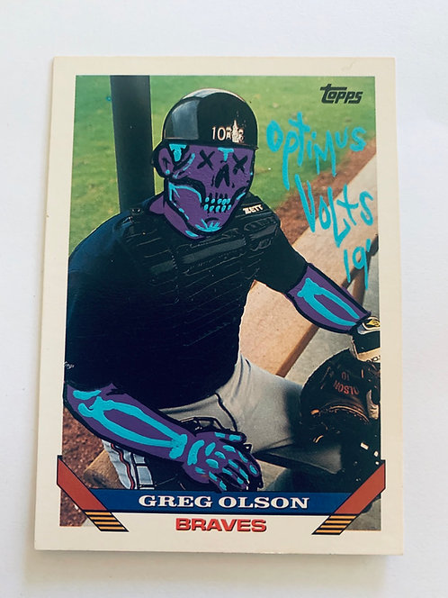 Greg Olson Tops 1993 Atlanta Braves