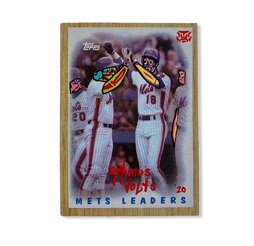 New York Mets Darryl Strawberry & Gary Carter Topps 1987