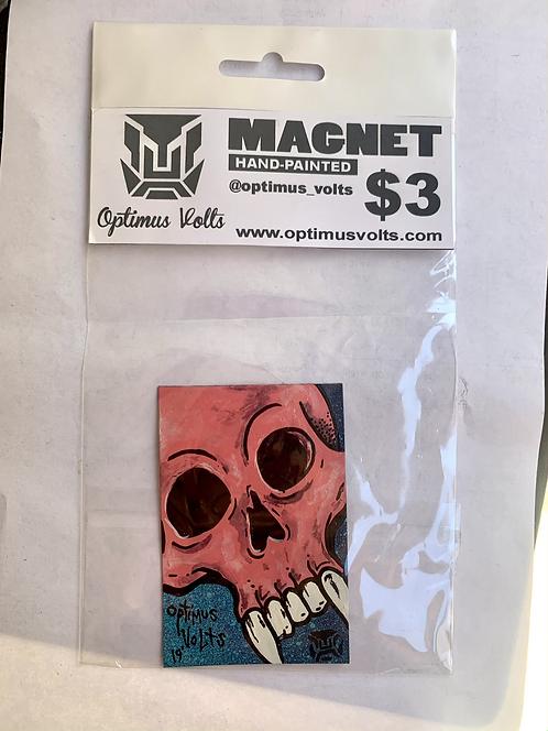Handpainted skull magnet