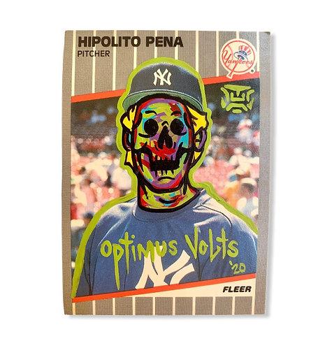 Hipolito Pena Fleer 1989 New York Yankees