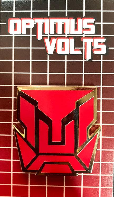 Optimus Volts Logo Enamel Pin