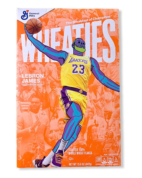 LeBron James Wheaties box 1/1 Los Angeles Lakers