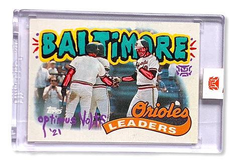 Cal Ripken Eddie Murray Baltimore orioles 1/1 Topps 1989