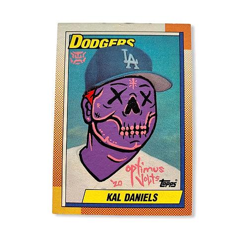 kal Daniels Topps 1990 Los Angeles Dodgers