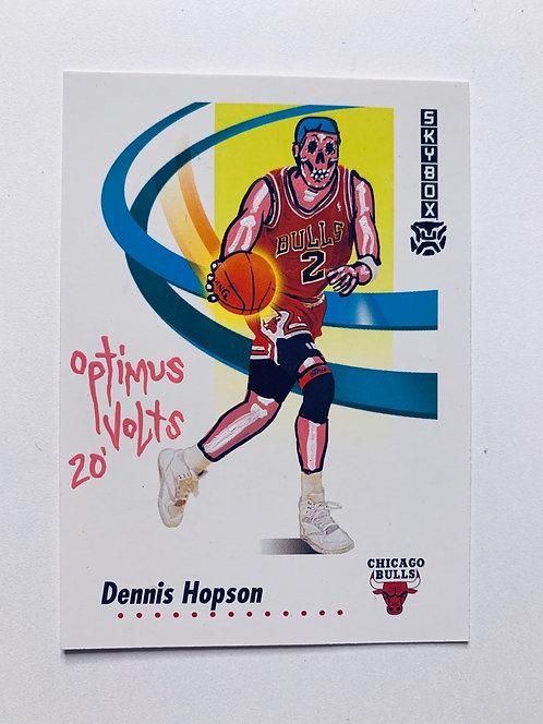 Dennis Hopson Skybox 1991 Chicago bulls