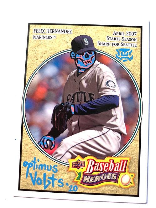 Felix Hernandez upper deck 2008 baseball heroes Seattle Mariners