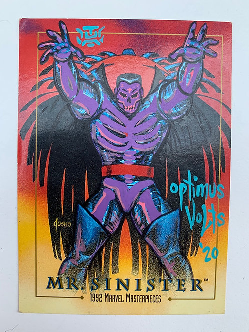 Mr. sinister Marvel masterpiece Skybox 1992