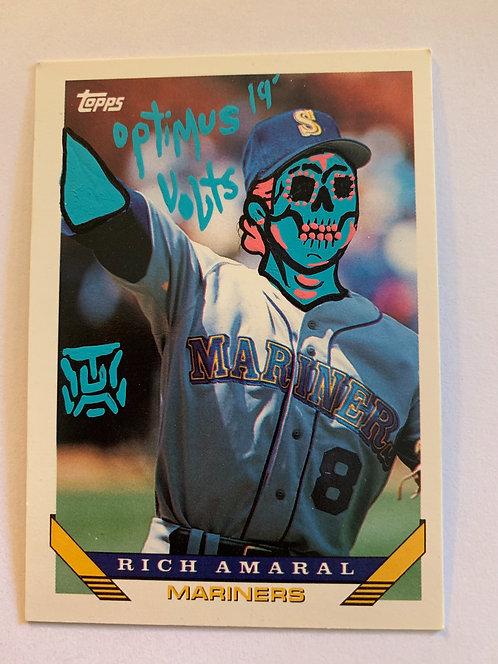 Rich Amaral Topps 1993 Dia Delos Muertos baseball card