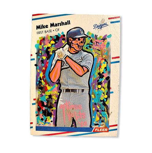 Mike Marshall Fleer 1988 Los Angeles Dodgers