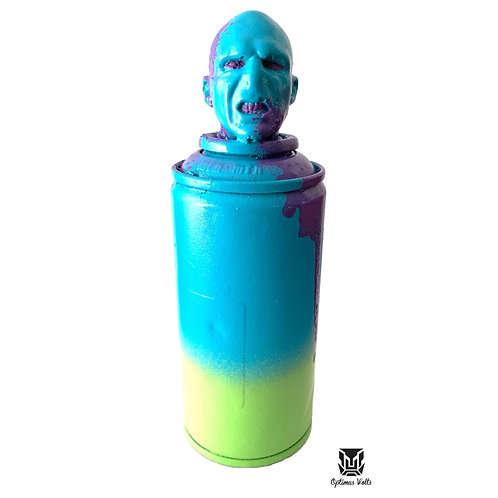 VOLDEMORT SPRAY CAN BLUE & YELLOW