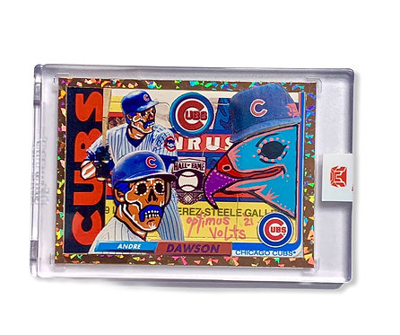 Andre Dawson Kalab card Lunchmade & Optimus Volts 1/1 Chicago cubs