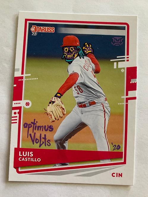 Luis Castillo Donruss 2020 Cincinnati Reds