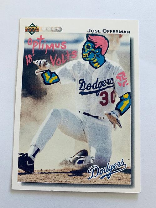 José Offerman upper deck 1992 Los Angeles Dodgers