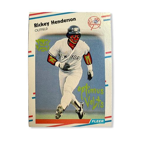 Rickey Henderson Fleer 1988 New York Yankees