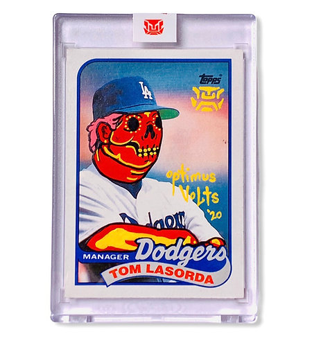 Tommy Lasorda 1/1 Topps 1989 Los Angeles Dodgers
