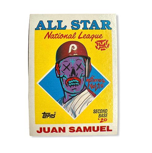 Juan Samuel Topps 1988 Philadelphia Phillies