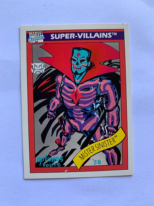 Mr. sinister marvel comics super villains 1990 Impel