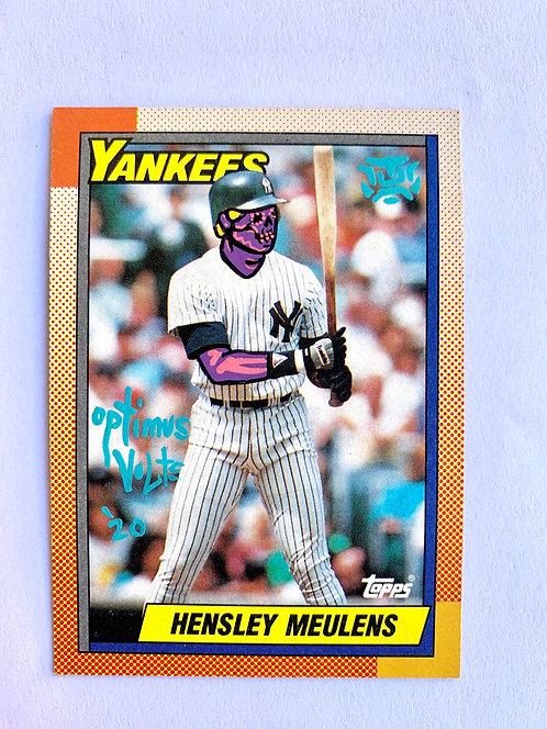 Hensley Meulens Topps Nine teen 1990 New York Yankees