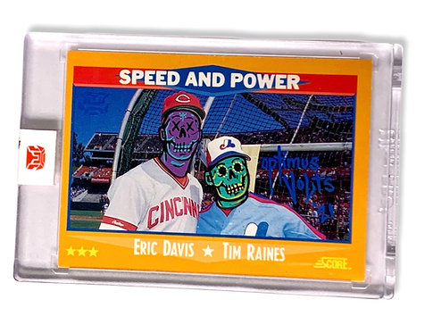 Eric Davis & Tim Raines 1/1 Score 1988 Montreal expos Cincinnati Reds