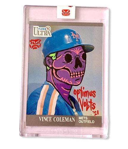 Vince Coleman 1/1 Fleer ultra 1991 New York Mets