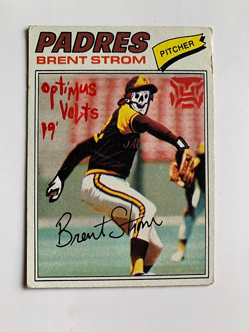 Brent Storm Topps 1977 San Diego padres