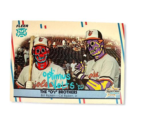 Billy Ripken & Cal Ripken Jr. Fleer 1988 Baltimore orioles