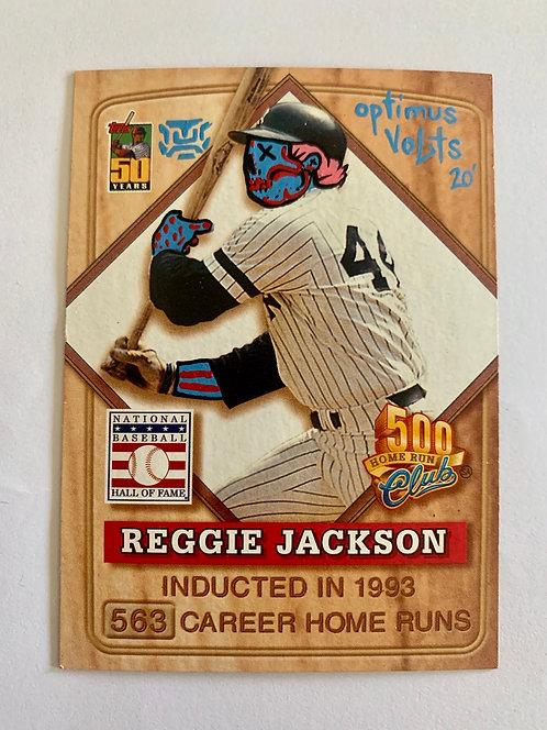 Reggie Jackson post Topps 2001 New York Yankees