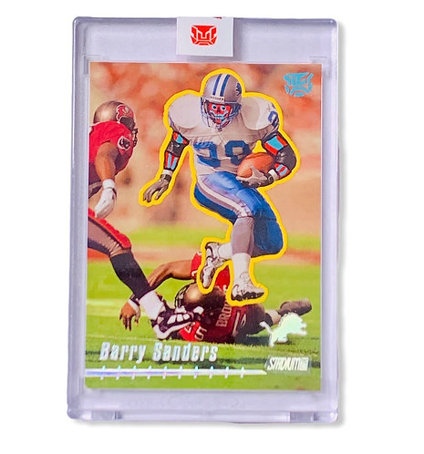 Barry sanders 1/1 Topps stadium club Detroit Lions