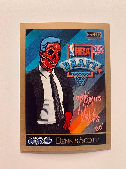 Dennis Scott Orlando Magic 1990 skybox NBA draft