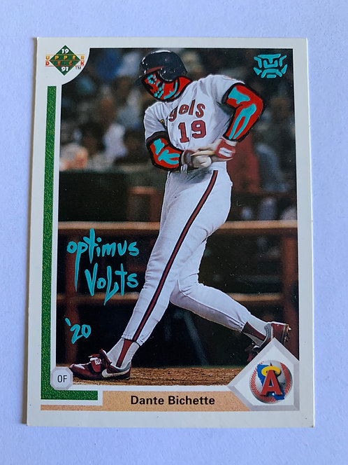 Dante Bichette Upper deck 1991 Los Angeles Anaheim Angels