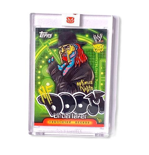 MF DOOM Undertaker Promo card Topps 2006 WW insider Wrestling card