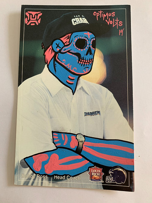 Louis rich San Diego chargers Bobby Ross Dia Delos Muertos Football card