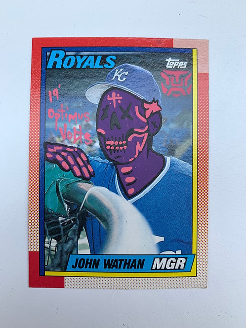 John Wathan Topps 1990 Kansas City Royals