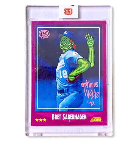 Bret Saberhagen 1/1 Score 1988 Kansas City Royals