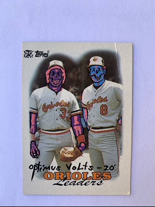 Cal Ripken Jr & Eddie Murray Topps 1988 Baltimore orioles