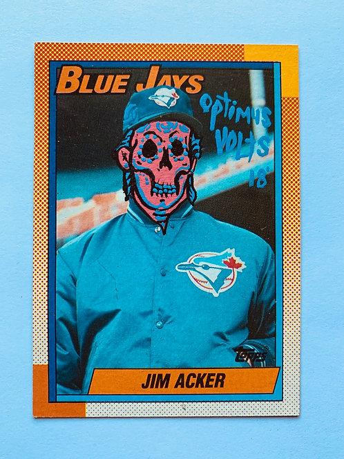 Jim Acker Topps 1990 Toronto Blue Jays