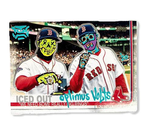 Mookie Betts & J.D. Martinez Topps 2019 Boston Red Sox