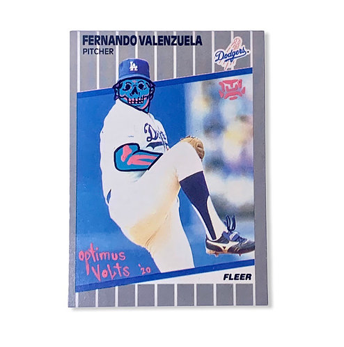 Fernando Valenzuela Fleer 1989 Los Angeles Dodgers
