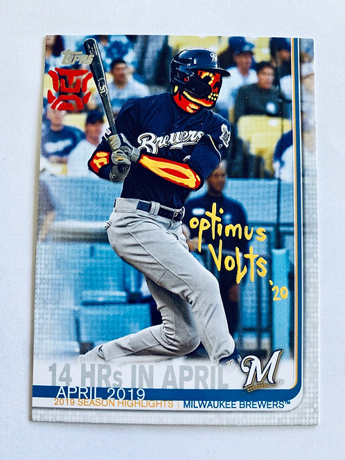 Christian Yelich Topps 2019 Seattle Mariners
