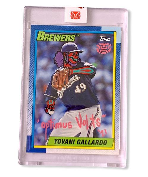 Yovani Gallardo 1/1 Topps 2013 Milwaukee Brewers